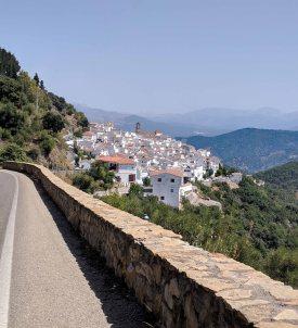 One more beautiful white village along the roadside
