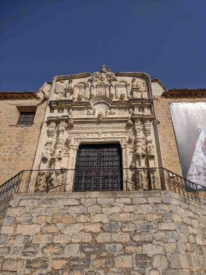 """The facade of the Iglesia de """"Santa María la Mayor"""""""