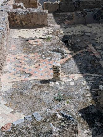Remains of an ancient tiled floor