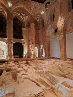 Crypts beneath the floor of the Mayor Abbey Church