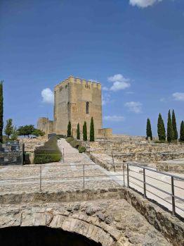 Castle tower of the Fortaleza de la Mota of Alcalá la Real