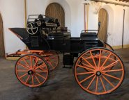 Horse carriage on display at Bodegas Lustau