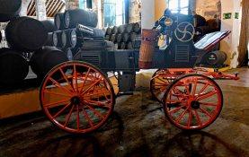 Horse carriage on display at Bodegas Lustau
