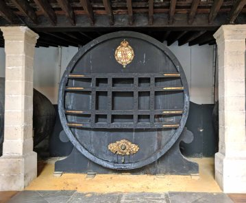 The 16,500 liter royal cask dedicated to, and reserved for, Queen Isabel II.