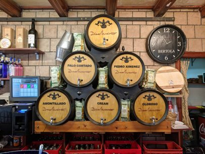 """A local tabanco serving sherry from casks from the Bodegas """"Díez Mérito"""""""