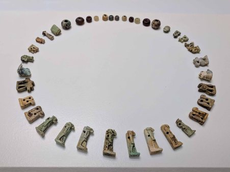 Ancient Roman jewelry on display in the Museo de Cádiz