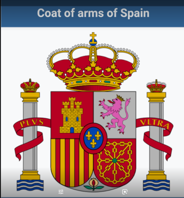 The Pillars of Hercules represented on the Spanish Coat of Arms