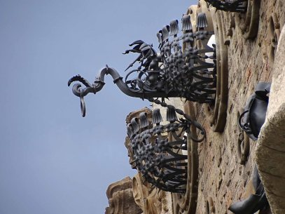 Ironwork on the exterior of the Casa Milà
