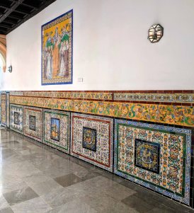 Beautifully tiled walls
