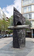Sculpture of a submarine