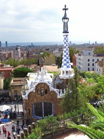 A second building also designed by Gaudi's friend, Francesc d'Assís Berenguer i Mestres.