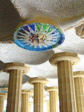 Mosaic medallions Park Güell