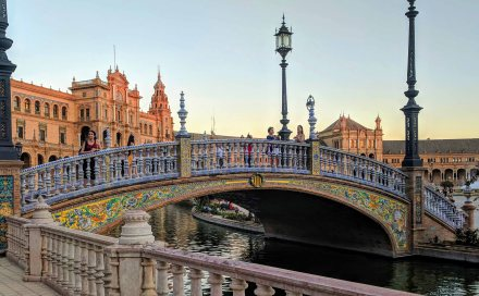 Beautiful tiled bridges