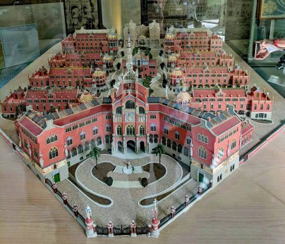 A model of the whole hospital as it was built.