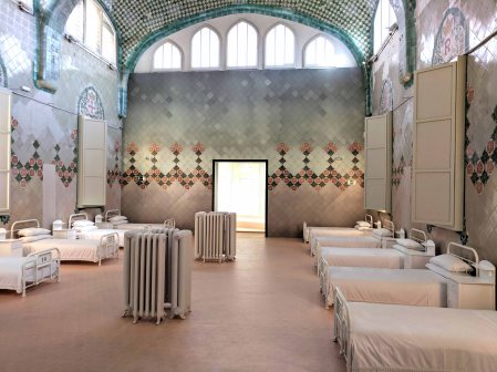 An example of what the hospital room would have looked like at Sant Pau, Recinte Modernista