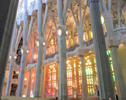 Beautiful stained glass windows.