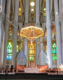 The main alter of the Sagrada Familia