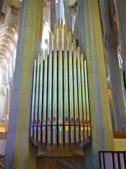 One half of the church organ