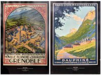 Posters on display at the Musée Dauphinois