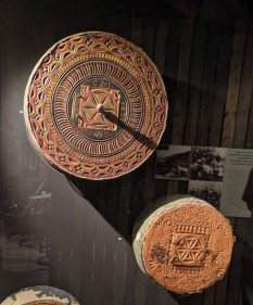 Intricately carved Lace Wheels - People of the Alps