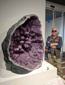 A huge Geode on display at the Natural History Museum