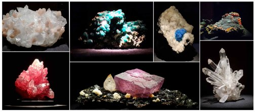 Some of the many crystals on display at the Natural History Museum