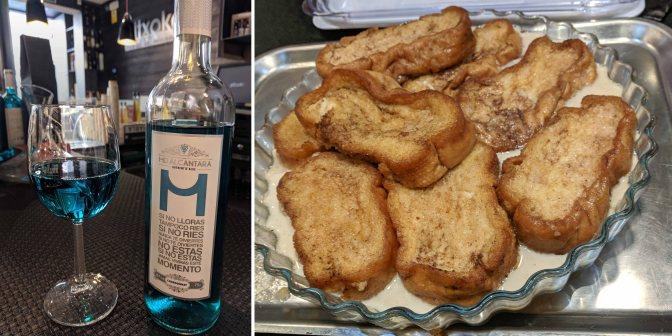 Vino Azul and  Torrijas