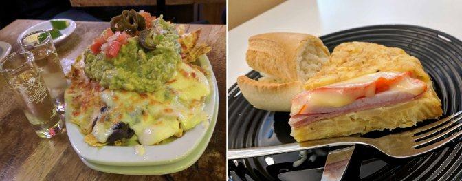 Nachos and Tortilla de patatas